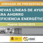 Jornada de presentación de las nuevas líneas de ayuda para ahorro y eficiencia energética