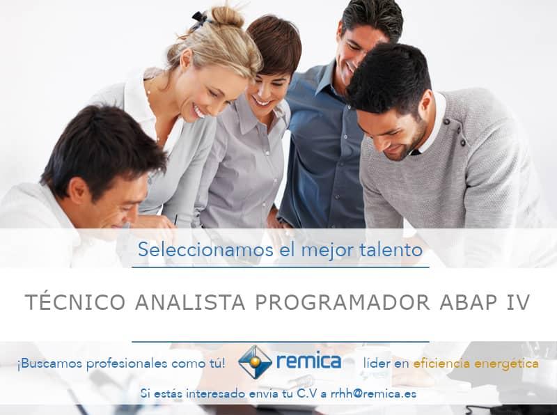 Oferta de empleo Remica: Técnico Analista Programador ABAP IV